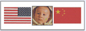American baby born in China