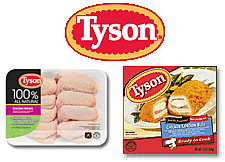 Tyson Foods- chicken, etc.